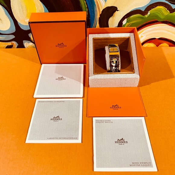 🎁Authentic Hermes GoldPlated Locquet Bangle Watch